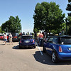 Over 25 MINIs and a few classic Minis gather at a rest area near Colorado City, on the way to the first castle.