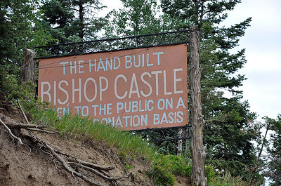 Bishop Castle, along Colo Hwy 165, northwest of Colorado City. See Roadside America for more: http://www.roadsideamerica.com/story/2047
