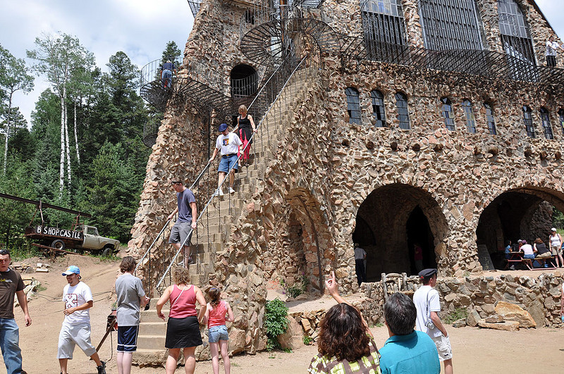 The shortcut staircase was very steep and the steps very small. People were smaller in the old days.