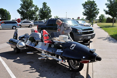 SR-71 (motorcycle) and pilot.