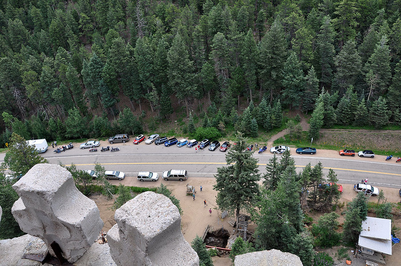 View toward the highway from one of the towers.