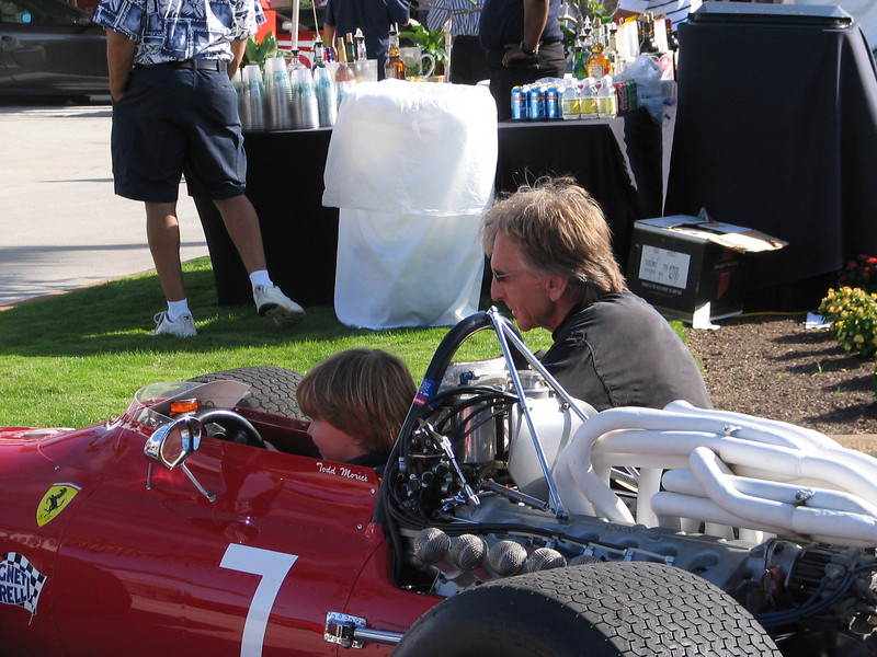 Ferrari 312 F1 1968 with Derek Bell (right) and his son.
