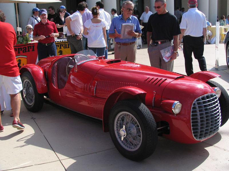 Ferrari 166 Spyder Corsa. This is Spyder Corsa #004C, completed in March 1948, most probably the oldest, most original Ferrari in existence. This car has its original body, engine, transmission, and even much of its hardware (nuts and bolts, etc.).