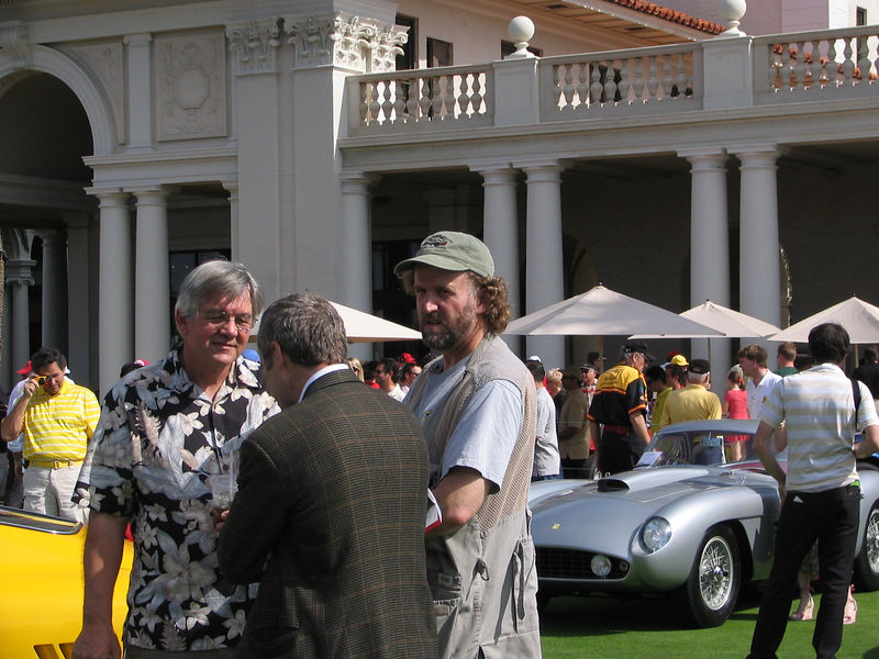 Winston Goodfellow (far right), the world's leading autoritarian on Italian cars