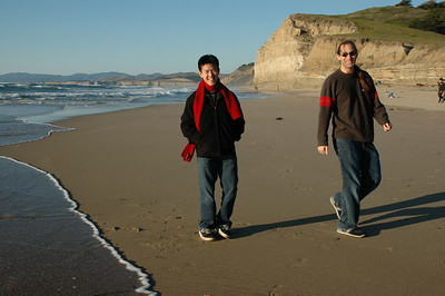 Nick and I chilling at San Gregorio