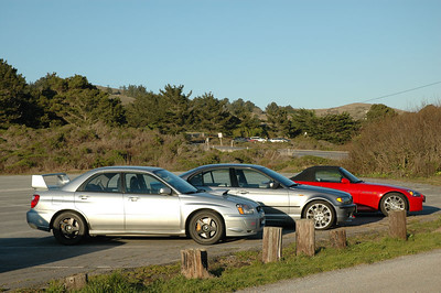 Three of the hottest cars ever to grace San Gregorio beach