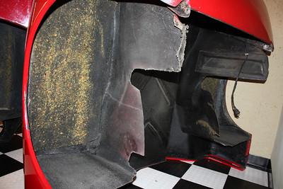 16/03/13 Chevron B16 rear body underside view.