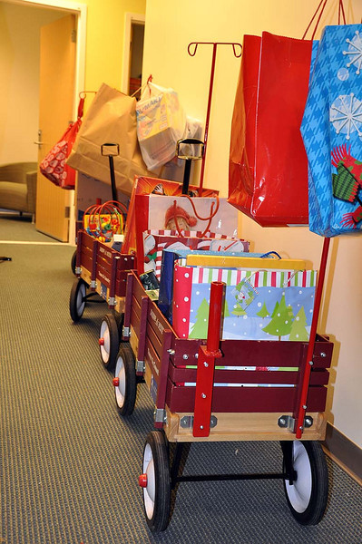A few more red wagons.