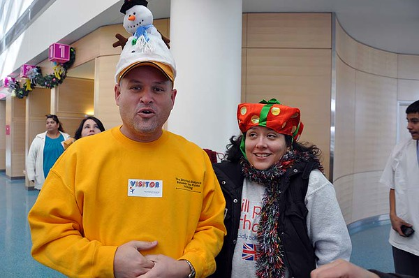 Rich and Teena showing their holiday spirit.