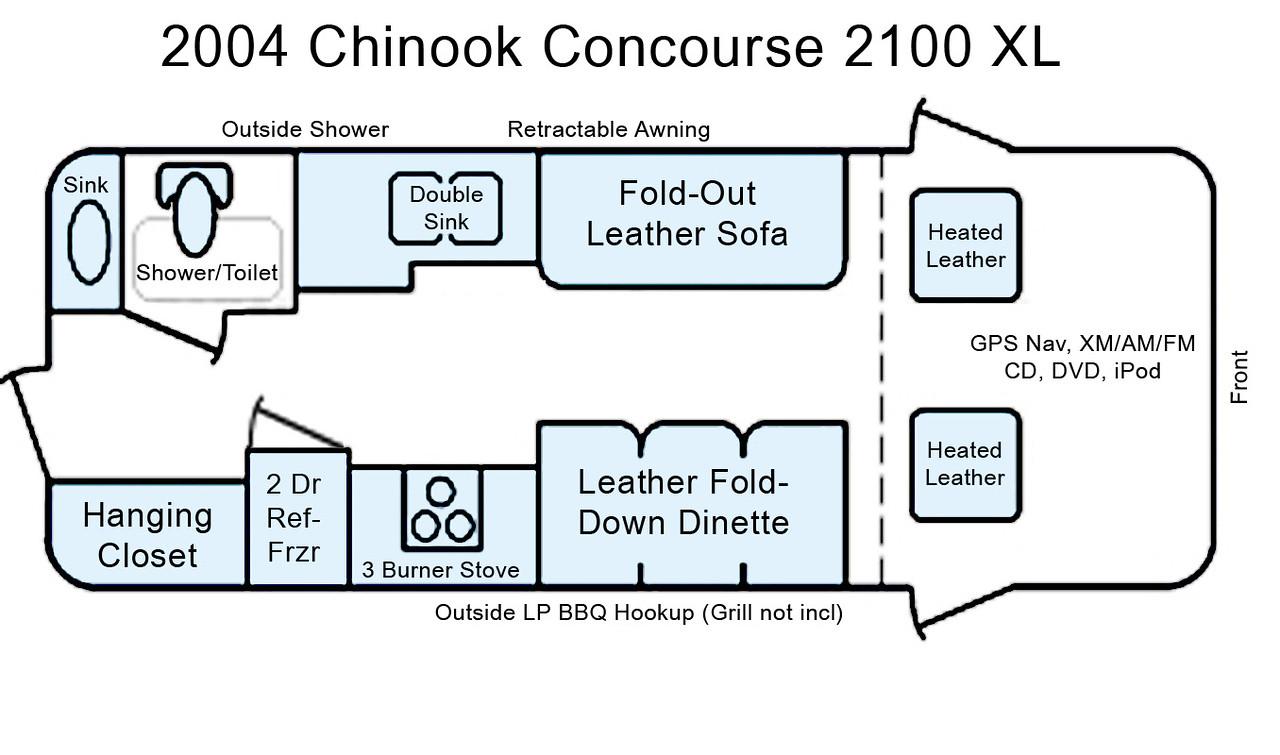 Chinook 2100 Concourse XL 4x4 Turbo Diesel RV