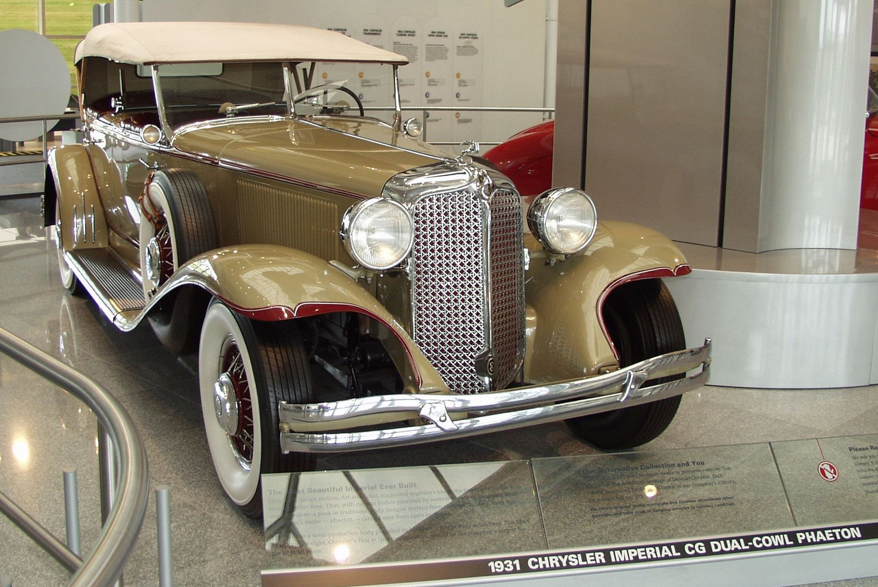 1931 Chrysler Imperial CG Dual Cowl Phaeton.