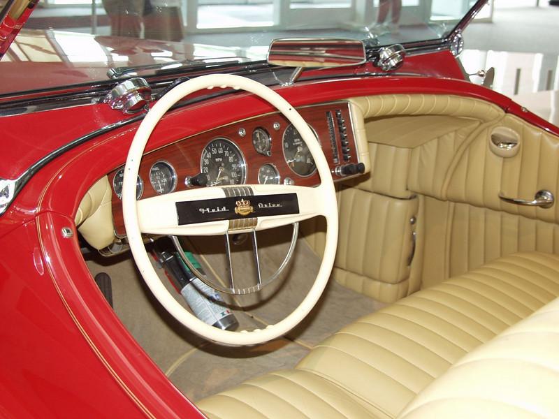 Interior of the 1941 Chrysler Newport dual cowl  phaeton.