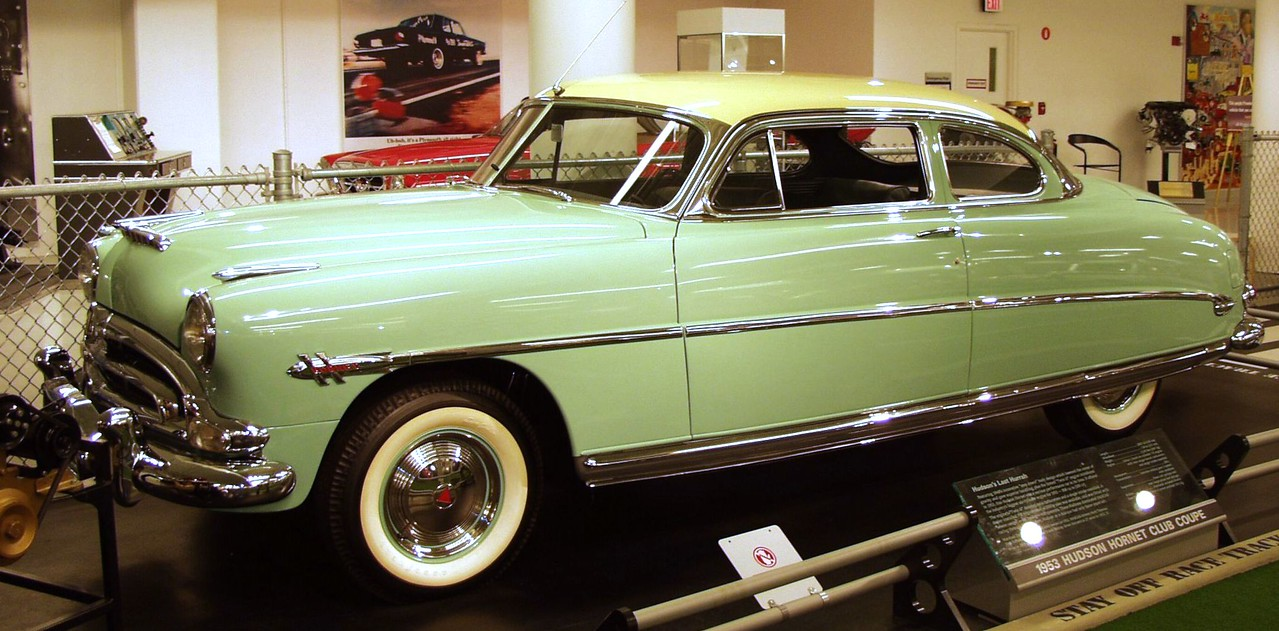 1953 Hudson Hornet Club Coupe.
