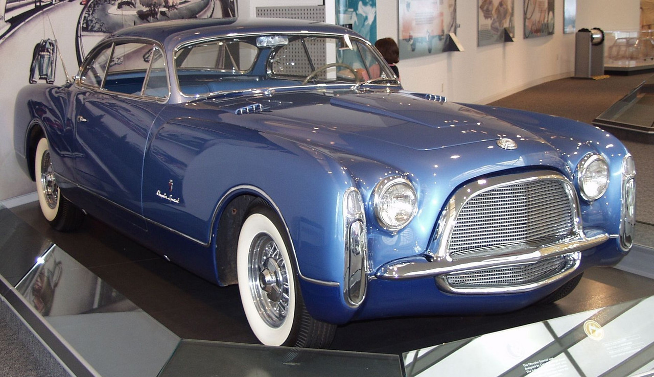 1953 Chrysler special show car, body by Ghia.