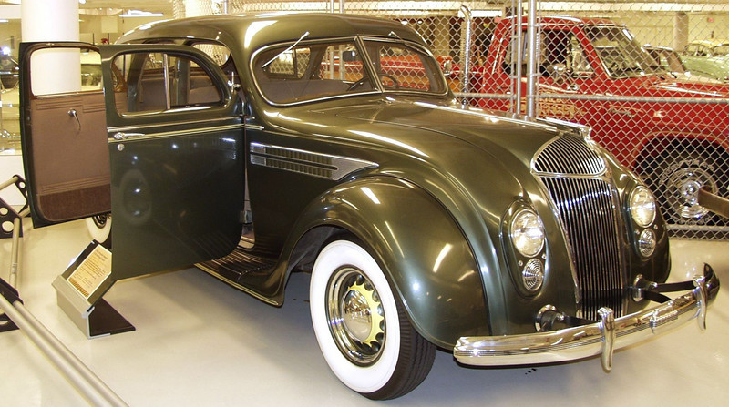 The 1936 Chrysler Imperial Airflow Sedan featured an all steel roof, a first for Chrysler.