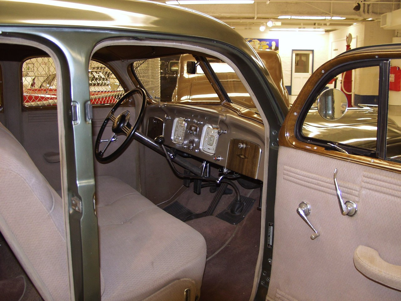 Interior of the 1936 Chrysler Imperial Airflow Sedan.