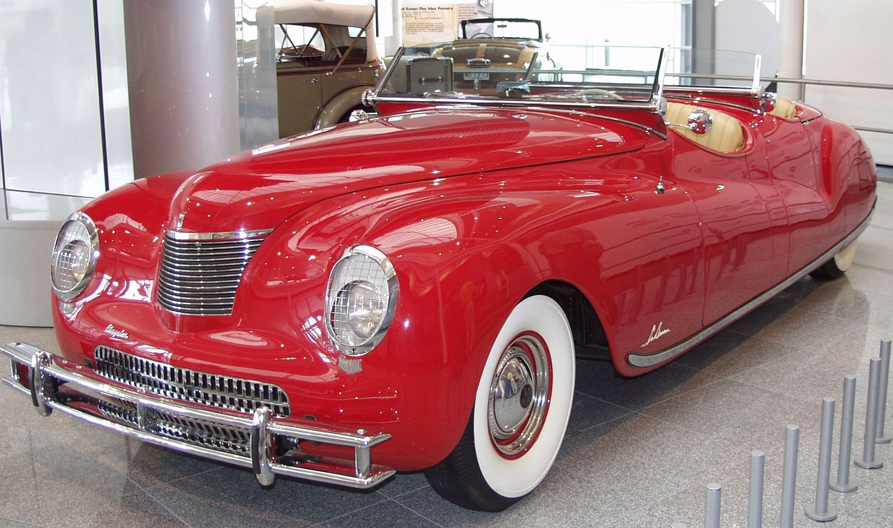 1941 Chrysler Newport dual cowl  phaeton.  One of only 6 built.  They paced the Indy 500 that year and were displayed at auto shows and in dealerships around the U.S..