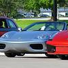 Fiat 500, Ferrari 360 and Lamborghini Gallardo