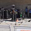 many different variations of pit stop tire change apparatus - McLaren