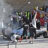 Schumacher with a little heat