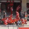 Massa pit during P1