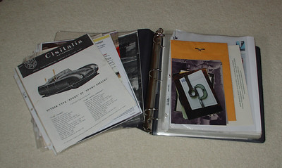 Cisitalia Documentation: receipts, early photos, ownership history, correspondence, etc.