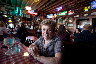 Mom at Heroes for a Mothers Day Dinner