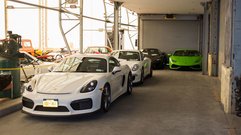 PORSCHE CAYMAN GT4;  991 GT3 & LAMBORGHINI HURACAN