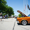 6/19/16 FITCHBURG with story-- A built Pontiac GTO sits alongside other classics during Sundays classic car show at Monty Tech in Fitchburg. photo/Jeff Porter
