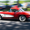 6/19/16 FITCHBURG with story-- A 1960's hardtop Corvette leaves Sundays classic car show at Monty Tech in Fitchburg. photo/Jeff Porter