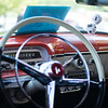 6/19/16 FITCHBURG with story-- The interior of a 1954 Mercury Monterey owned by Bob and Brenda Amadio of Milford NH sit's alongside other classics during Sundays classic car show at Monty Tech in Fitchburg. photo/Jeff Porter