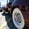6/19/16 FITCHBURG with story-- The wheels of a 1940 Packard Darrin owned by Al San Clemente of Shrewsbury who once owned a law office in Fitchburg.  The car sit's alongside other classics during Sundays classic car show at Monty Tech in Fitchburg. photo/Jeff Porter