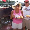 Vermilion residents, Terry and Cheryl Diener taking advantage of the free hot dogs and drinks.