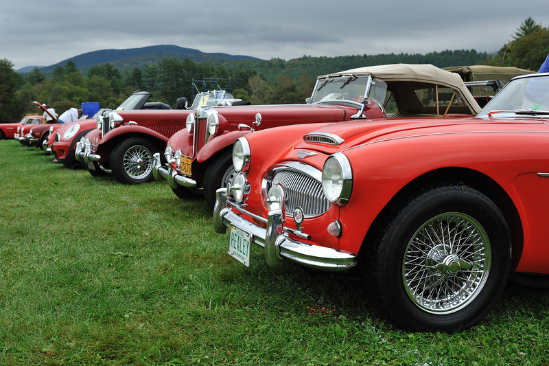 British Classic Car Show 2012 at Stowe, Vermont, USA