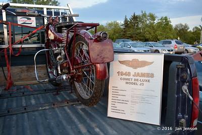 1948 James Comet De-Luxe, Model J3 - early motor bike (140 mpg)
