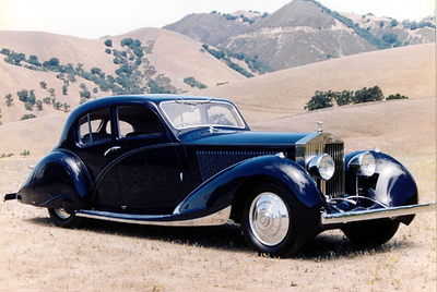 Here is the Phantom II , photographed (not by me) in the hills around Danville.   The rear of the car is very much like the F&F bodied 1936 Delahaye 135 Competition Court Coupe