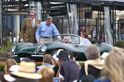 Mr. Ratan N Tata, Chairman of Tata Motors, owner of Jaguar Land Rover was on hand to present the new Jaguar Trophy which Tata has donated to the Pebble Beach Concours d'elegance.  Pebble Beach, CA August 15 2010