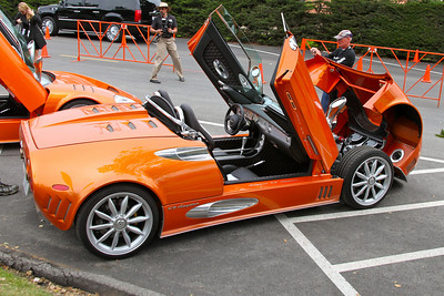 Two Spyker's spreading their wings