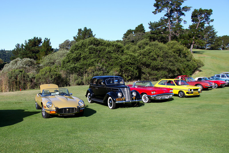 """2010 Hillsborough Concours d""""Elegance, Crystal Springs Gold Club Sept 12th 2010<br /> The Car Corral in the early morning light<br /> ```"""