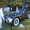 """2010 Hillsborough Concours d""""Elegance, Crystal Springs Gold Club Sept 12th 2010<br /> Dick France setting up his Xk120 for the Judging"""
