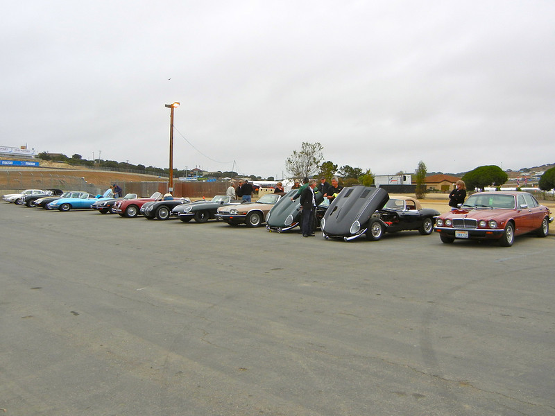 Early arrivals at the Jaguar Corral at Laguna Seca Saturday, August, 20th, 2011