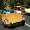 Our 1974 Jaguar v12 XKE shortly after we had parked up.