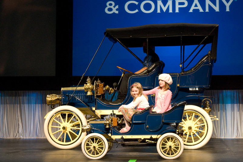 "Bring in the kids! After all, this 1906 Reo Model A is accompanied by its very own ""Baby Reo""."