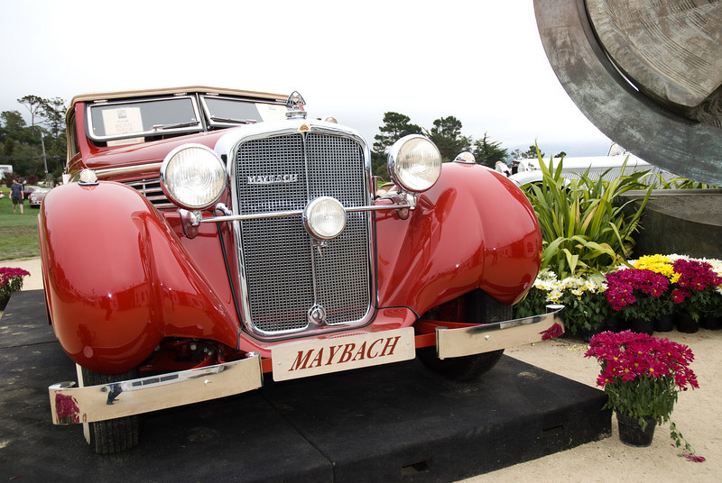 "An old Maybach on offer at the ""Blackhawk Exposition Sale"" at Pebble Beach."
