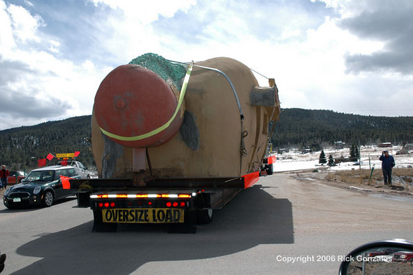 Saturday, March 18th, 2006, Coney Island is loaded onto a truck and hits the road, bound for Bailey, Colo., about 20 miles deeper into the mountains.