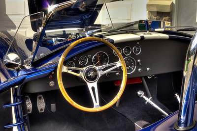 Note period correct Smith's reverse 180 mph speedometer with 6,946 miles on the odometer. AC cast aluminum foot pedals.