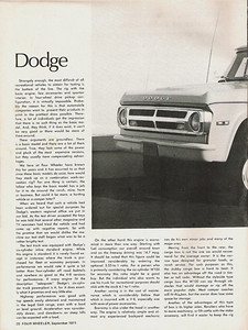 Power Wagon article scanned from Four Wheeler Magazine Sept. 1971