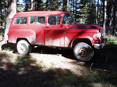 Dodge Power Wagon, originally used by a Billings Construction Company, found outside of Lincoln, Montana