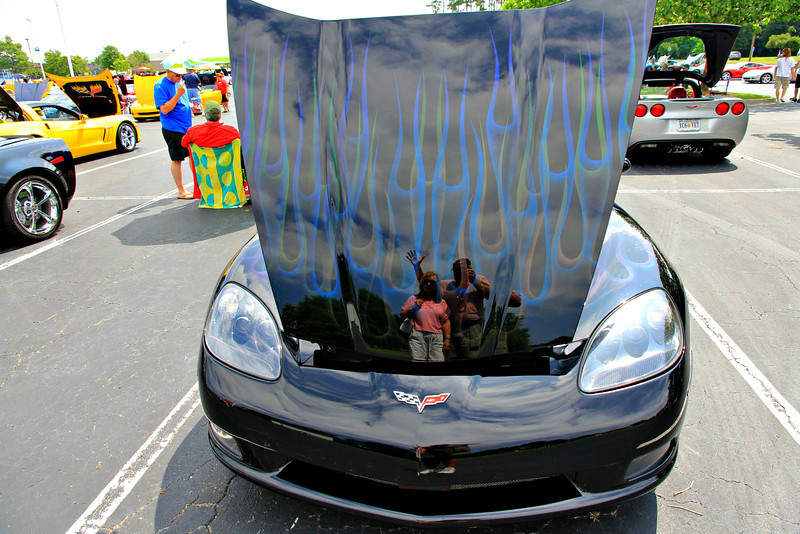 just waving Hi to all from the annual Myrtle Beach Sun Fun Festival's Corvette Car Show held at Broadway at the Beach