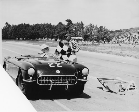 1956 - Bark Henry, SCCA CP at Road America.  Very early in the history of the Corvette and the circuit, both of which have lived on 5 1/2 decades since this photo.
